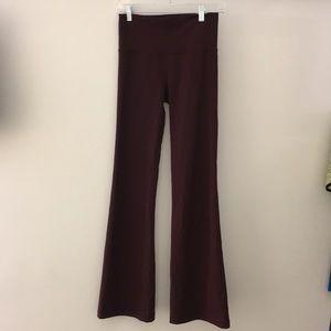 Lululemon maroon wide leg legging sz6 64493